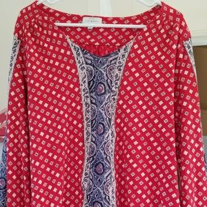Lucky Brand Long Sleeve Cotton Blouse